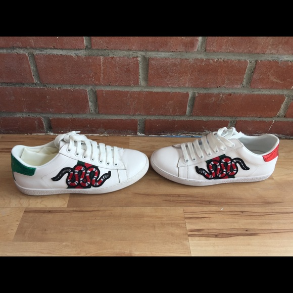 1e6dbeeba Gucci Shoes - Gucci ace embroidered snake leather shoes
